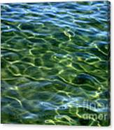 Lake Tahoe Swirls Abstract Canvas Print