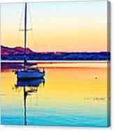 Lake Taupo Sailboat Canvas Print
