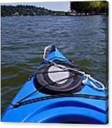 Lake View From Kayak Canvas Print