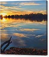 Memorial Park Sunset Canvas Print