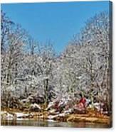 Lake Welch Snow Canvas Print
