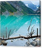 Lake With Canadian Rockies Canvas Print