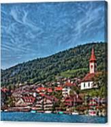 Lakefront Provincial Town Canvas Print