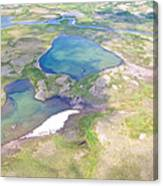 Lakes From The Seaplane In Katmai National Preserve-alaska Canvas Print