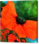 Lakeside Bloom Canvas Print