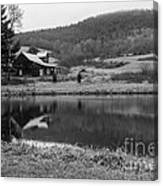 Lakeside Cabin Canvas Print