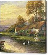 Lakeside Cottage Canvas Print