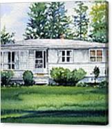 Lakeside Cottage Canvas Print