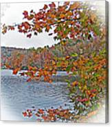 Lakeside In The Fall Canvas Print