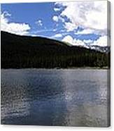 Mountain Lakeside Lunch Canvas Print