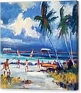 Lakeworth Beach Sketch Canvas Print