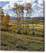 Lamar Valley In The Fall - Yellowstone Canvas Print