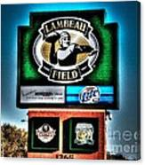Lambeau Field Entrance Canvas Print