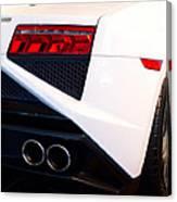 Lamborghini Gallardo Tail Light Pipes Canvas Print