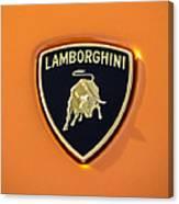 Lamborghini Emblem -0525c55 Canvas Print