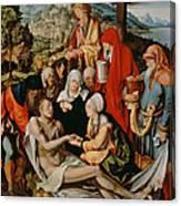 Lamentation For Christ Canvas Print