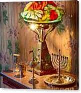 Lamp And Menorah Canvas Print