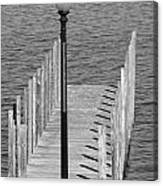 Lamp And Pier Canvas Print