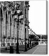 Lamp Post All Lined Up In Order Of Height Canvas Print