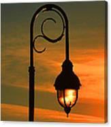 Lamp Post Glow Canvas Print