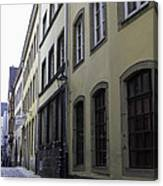 Lamp Post In Cologne Germany Alley Canvas Print