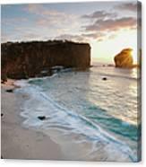 Lanai Sunset Resort Beach Canvas Print