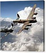 Lancaster And Spitfire  Canvas Print