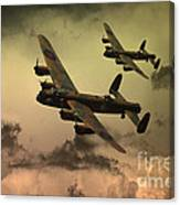 Lancaster Fire In The Sky Canvas Print