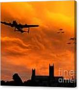 Lancaster Lincoln Sunset Canvas Print