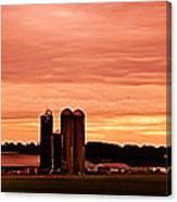 Lancaster Pa Sunset Canvas Print