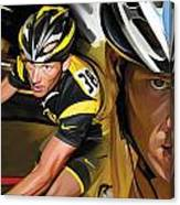 Lance Armstrong Artwork Canvas Print