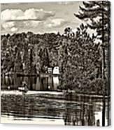 Land Of Lakes Sepia Canvas Print