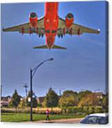 Landing At Midway Canvas Print