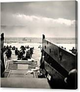 Landing At Normandy On D-day Canvas Print