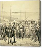 Landing Of A Military Leader Canvas Print