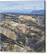 Landmannalaugar Iceland Panorama 2 Canvas Print