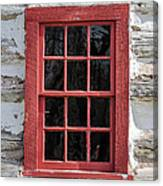 Landow Cabin Window Canvas Print