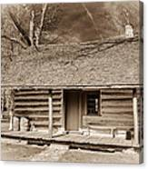 Landow Log Cabin 7d01723b Canvas Print
