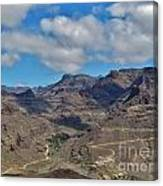 Landscape Amazing Canarian Colors Mountains Canvas Print