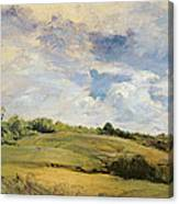 Landscape And Clouds  Canvas Print