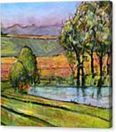 Landscape Art Scenic Fields Canvas Print