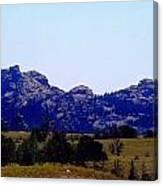 Landscape At 80 Mph Canvas Print