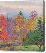 Landscape At Hancock In New Hampshire Canvas Print