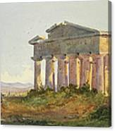 Landscape At Paestum Canvas Print