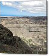 Landscape-canarian Volcanic Mountains Canvas Print