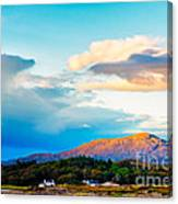 Landscape Evening Light Over Traigh House And Carn A Ghobhair Canvas Print
