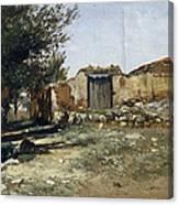 Landscape In Aragon Canvas Print