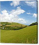 Landscape Near Hallsands In Devon Gb Canvas Print