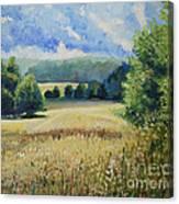 Landscape Near Russian Border Canvas Print