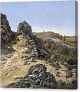 Landscape Near The Monastery Piedra Canvas Print